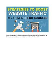 Strategies to Boost Website traffic