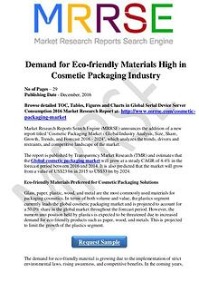 Demand for Eco-friendly Materials High in Cosmetic Packaging Industry