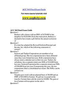 ACC 565 Something Great /uophelp.com