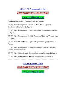 CIS 331 RANK It's Your Life/cis331rank.com