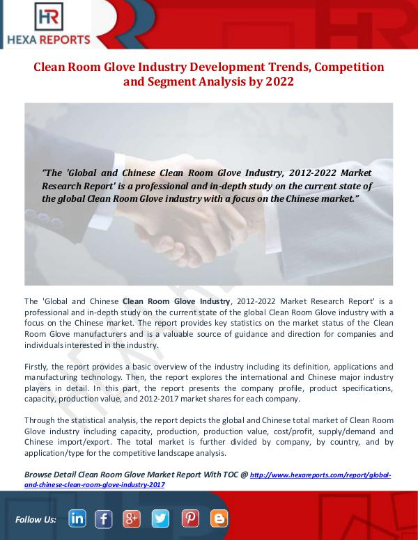 Clean Room Glove Industry