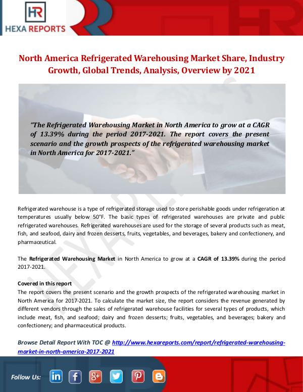 North America Refrigerated Warehousing Market