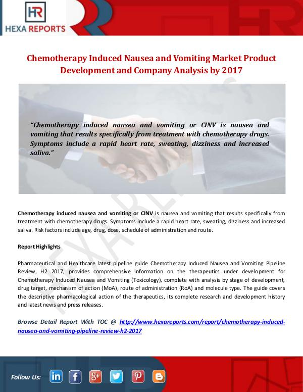 Chemotherapy Induced Nausea and Vomiting Market