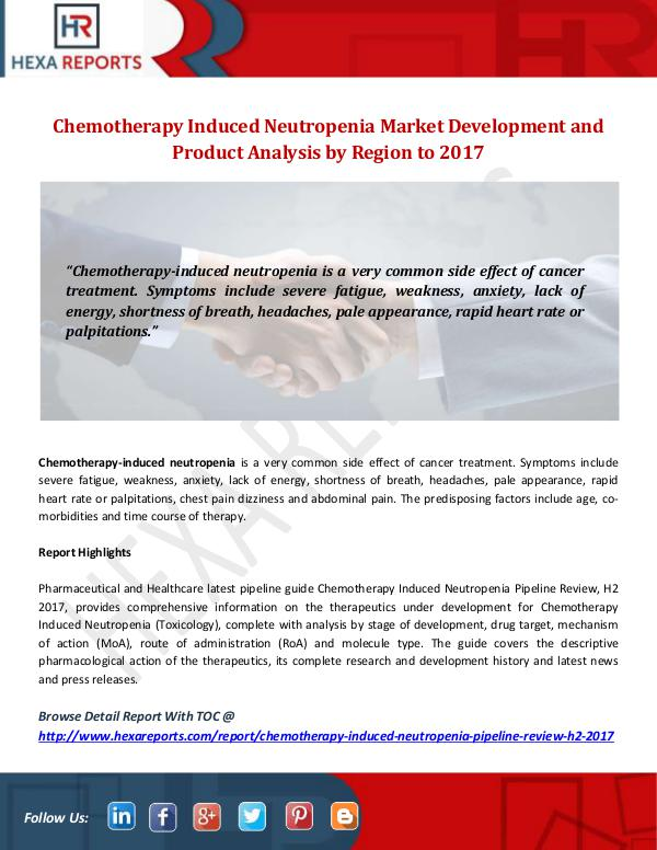 Chemotherapy Induced Neutropenia Market