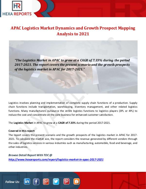 Hexa Reports Industry APAC Logistics Market