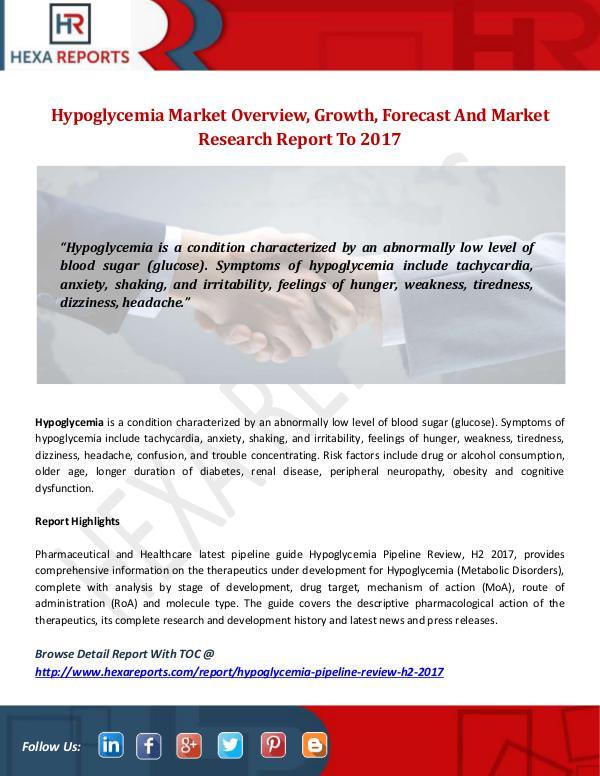 Hexa Reports Industry Hypoglycemia Market