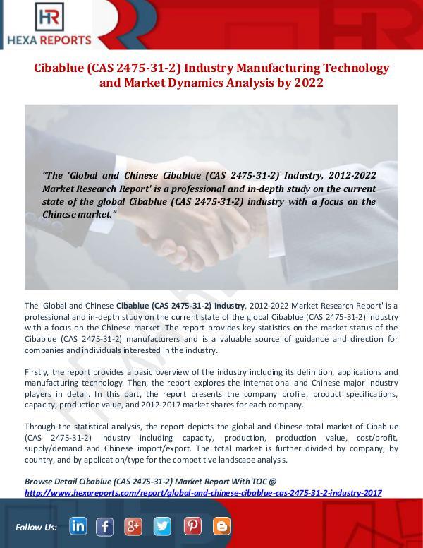 Cibablue (CAS 2475-31-2) Industry
