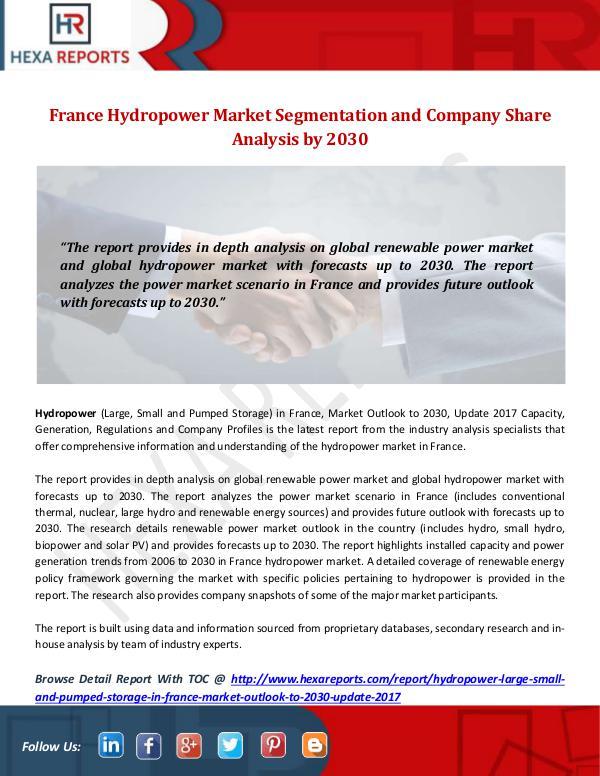 France Hydropower Market