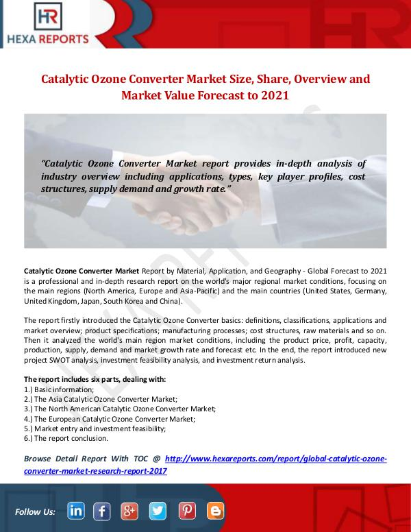 Catalytic Ozone Converter Market
