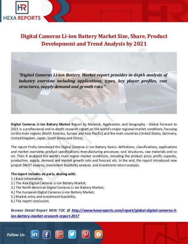 Digital Cameras Li-ion Battery Market