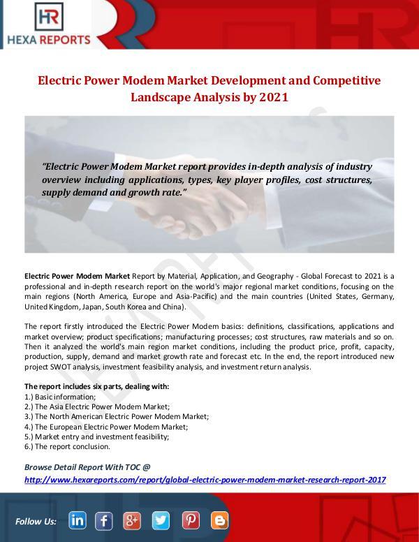 Electric Power Modem Market