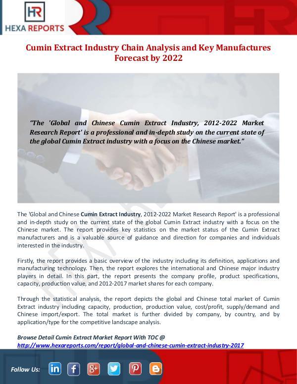 Cumin Extract Industry