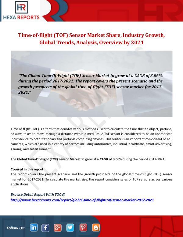 Time-of-flight (TOF) Sensor Market
