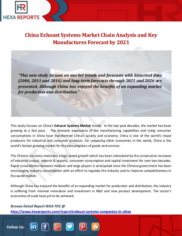 China Exhaust Systems Market