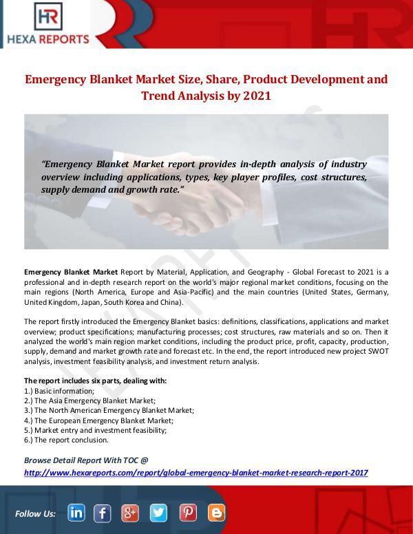 Emergency Blanket Market