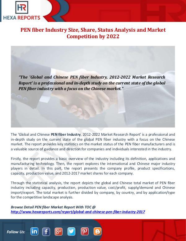 Hexa Reports Industry PEN fiber Industry