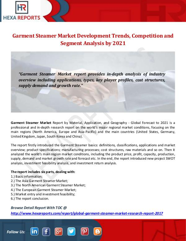 Garment Steamer Market