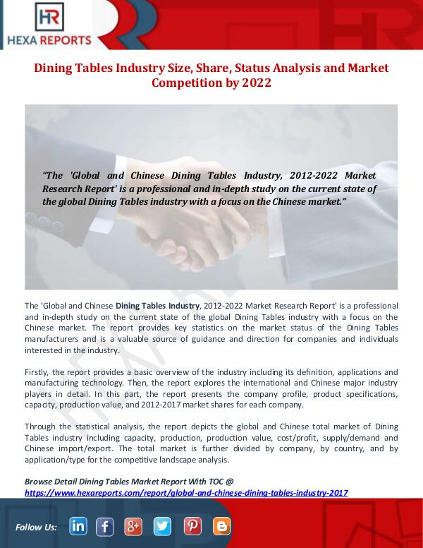 Dining Tables Industry