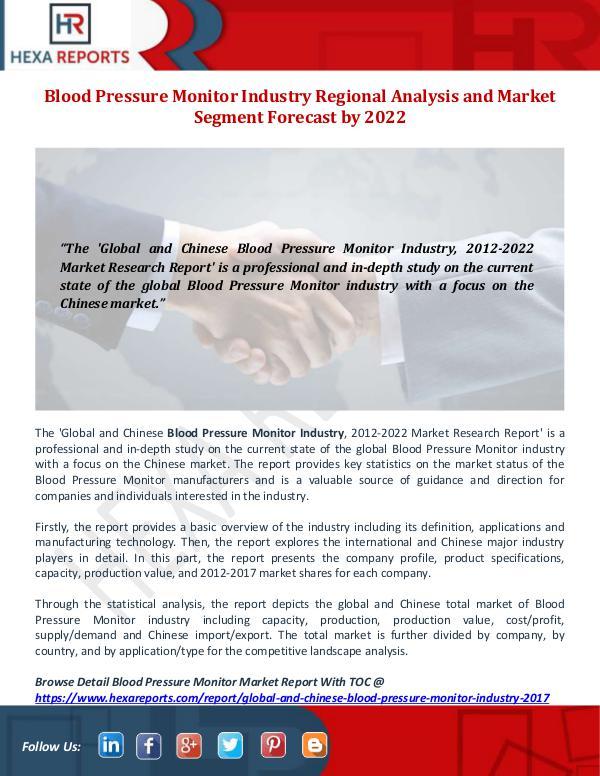 Blood Pressure Monitor Industry