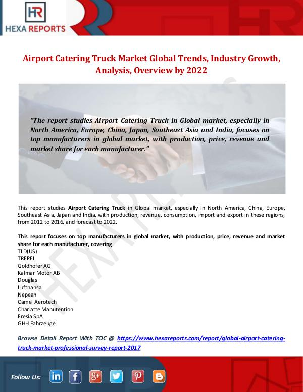 Airport Catering Truck Market