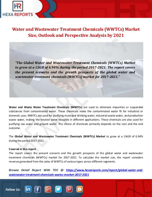 Hexa Reports Industry Water and Wastewater Treatment Chemicals (WWTCs)