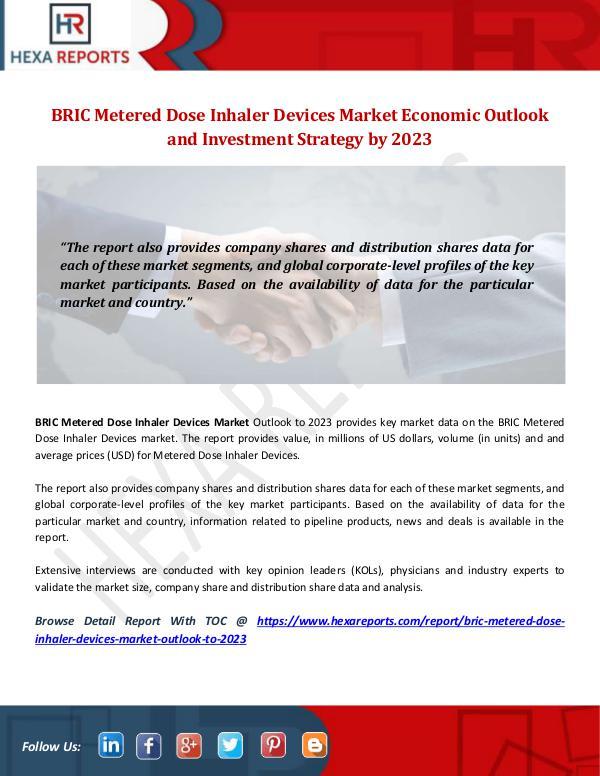 BRIC Metered Dose Inhaler Devices Market