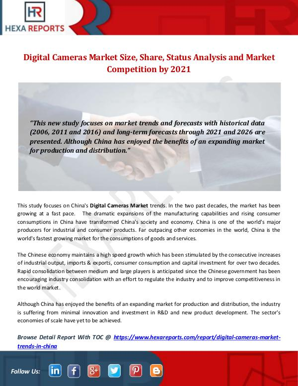 Digital Cameras Market