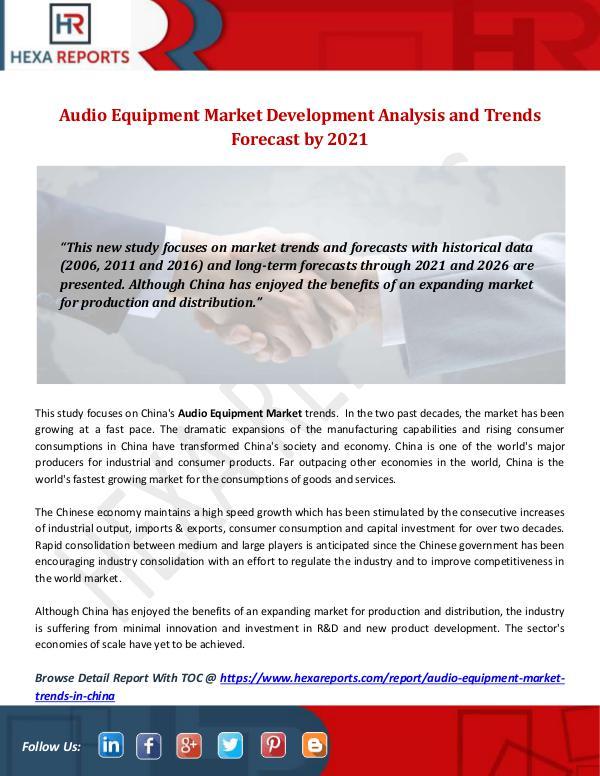Hexa Reports Industry Audio Equipment Market