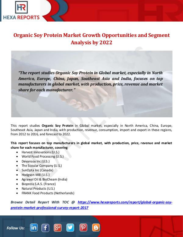 Organic Soy Protein Market