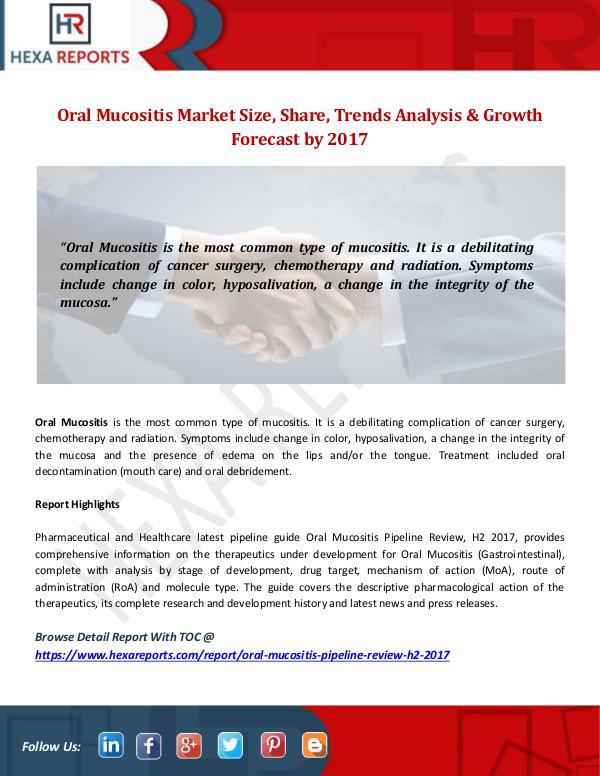 Hexa Reports Industry Oral Mucositis Market
