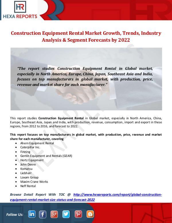 Construction Equipment Rental Market