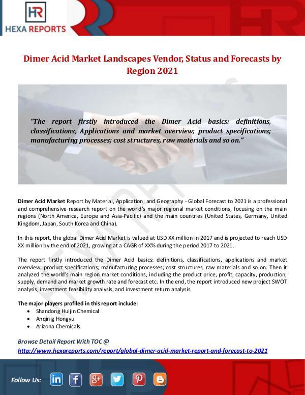 Hexa Reports Industry Dimer Acid Market
