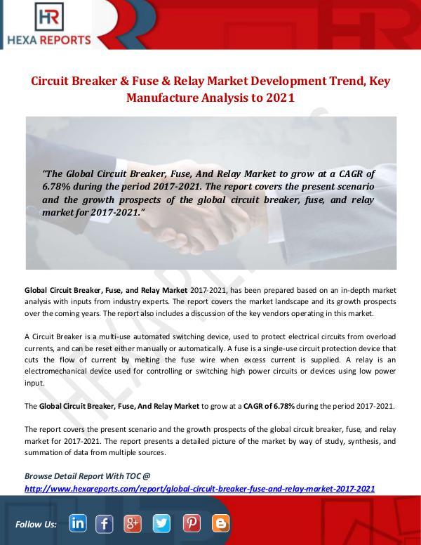 Circuit Breaker & Fuse & Relay Market