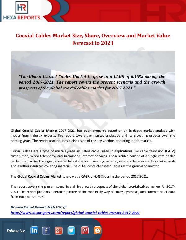 Coaxial Cables Market