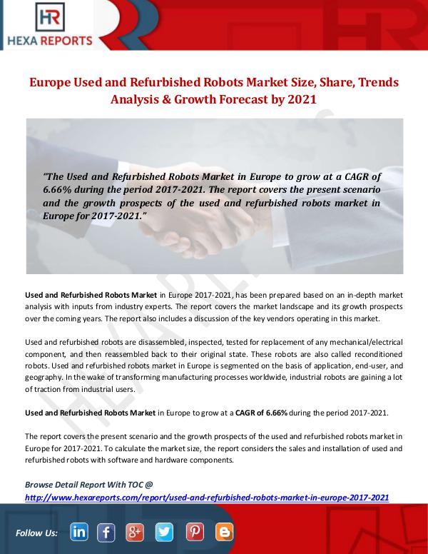 Europe Used and Refurbished Robots Market