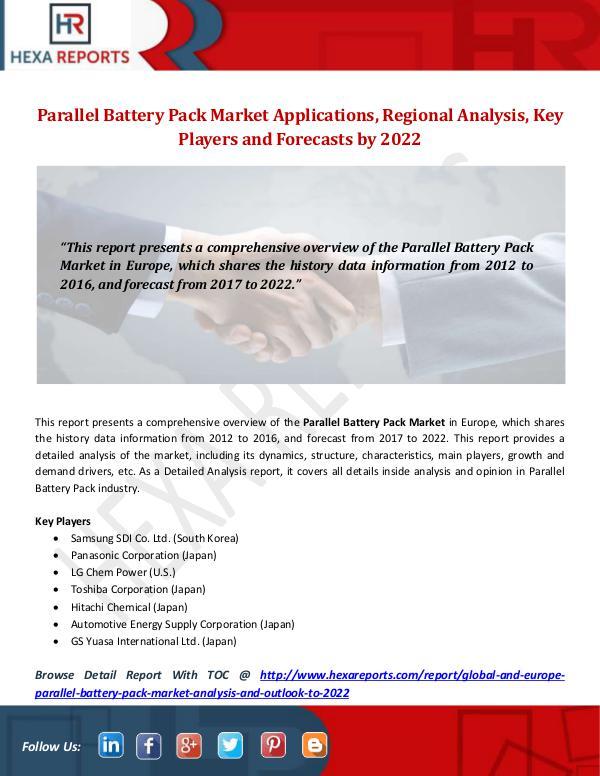 Parallel Battery Pack Market