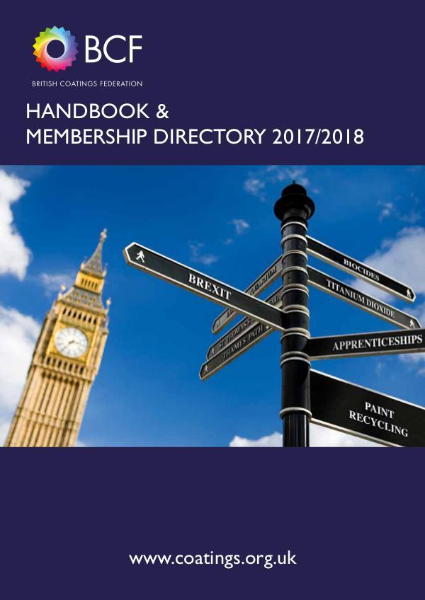 BCF Annual Handbook & Membership Directory 2017/2018