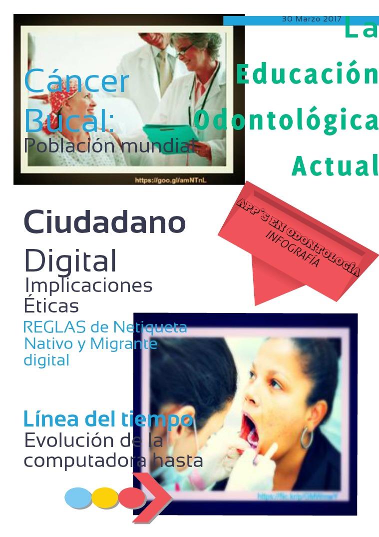 La Educación Odontológica Actual Primer Vol. 30 de marzo del 2017