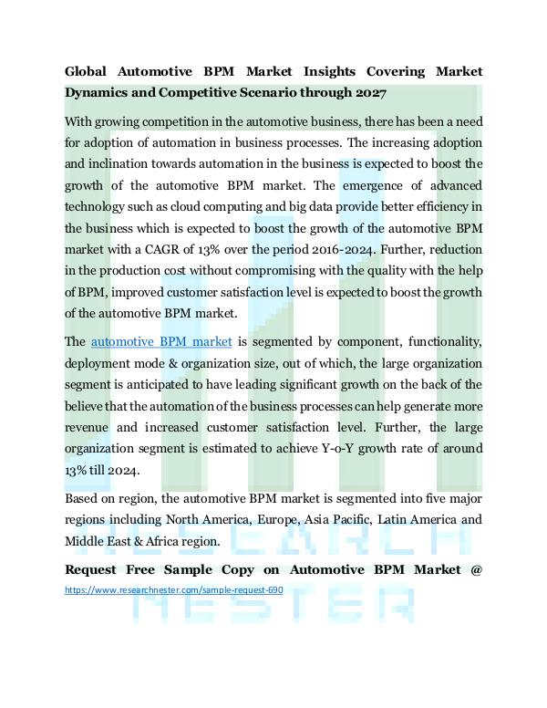 Automotive BPM market
