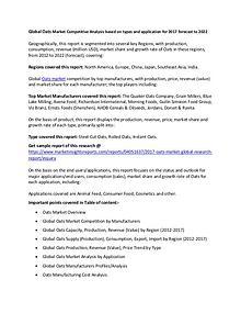 Global Oats Market 2017