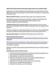 Global DTH Drills Sales Market