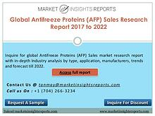 Antifreeze Proteins (AFP) Sales Market