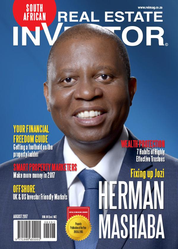 Real Estate Investor Magazine South Africa Real Estate Investor Magazine - August 2017