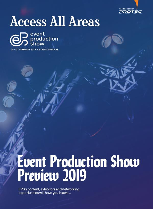 Access All Areas Supplements Event Production Show 2019