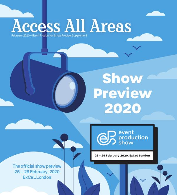 Access All Areas Supplements Event Production Show Preview 2020