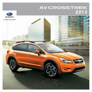 Brochure XV Crosstrek 2013