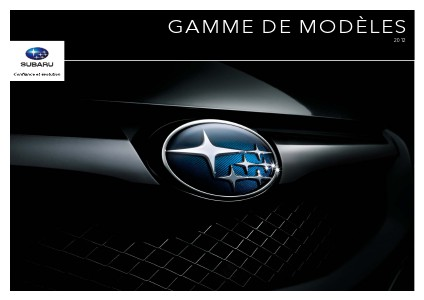 Brochure de la gamme 2012