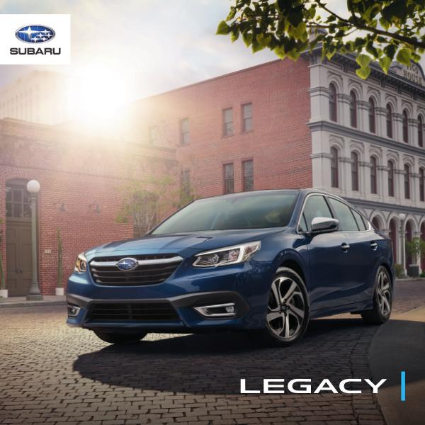 Subaru Legacy Brochures 2020 Legacy Brochure