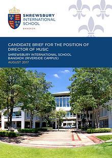 Shrewsbury International School, Bangkok - Candidate Briefs
