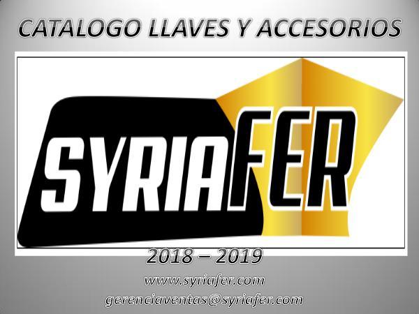 CATALOGO LLAVES Y ACCESORIOS SYRIAFER CATALOGO LLAVES Y ACCESORIOS SYRIAFER